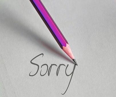 Pen, Write, Sorry, Excuse Me, I Beg Your Pardon