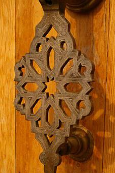 Door Lock, Fitting, Metal, Input, Door, Wrought Iron