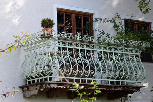 Balcony, Wrought Iron, Iron, Railing, Ornament