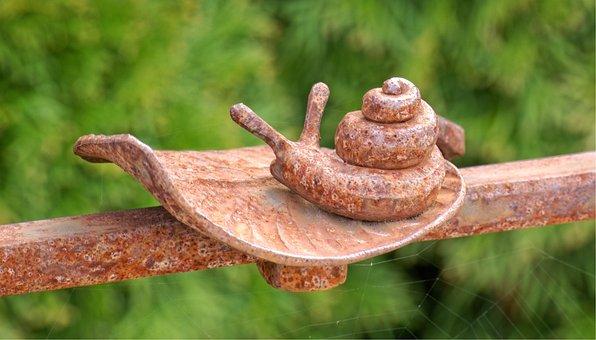 Snail, Leaf, Wrought Iron, Metal, Art, Iron, Ornament