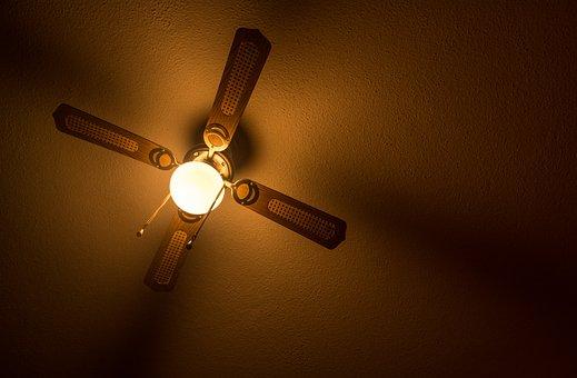 Ceiling, Lamp, Fan, Light, Darkness, Background