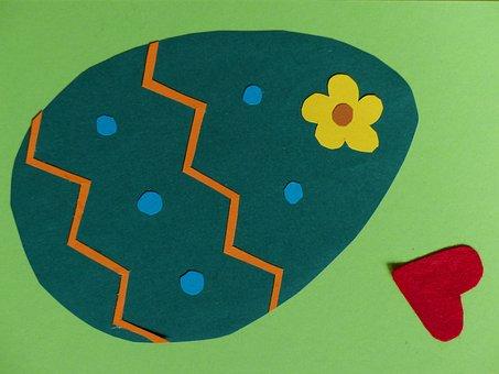 Egg, Easter Egg, Tinkered, Colorful, Gift, Map