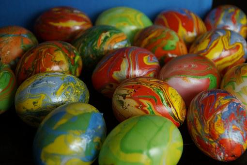 Marbled, Easter Eggs, Marbled Easter Eggs, Colored