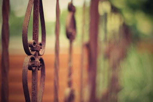 Old Iron Fence, Iron, Fencing, Forged, Old, Metal
