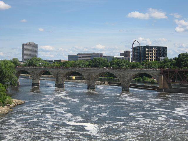 Minneapolis, Bridge, Minnesota, River, Mississippi