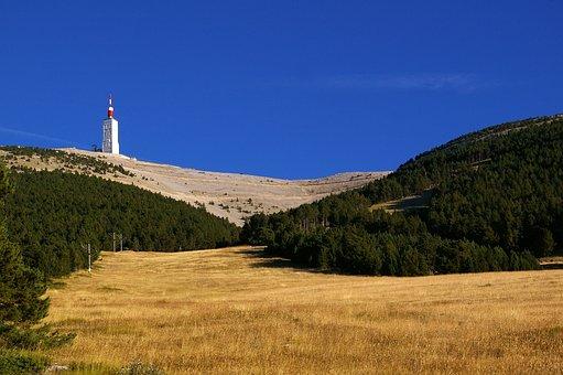 Mont Ventoux, Mountain, Sky, Blue, Sun, Wind, Cloud