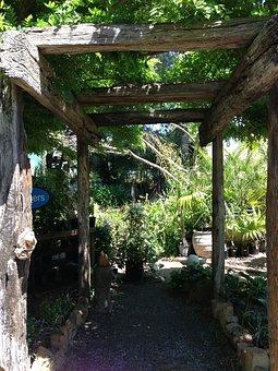 Pergola, Rustic Pergola, Garden Walk, Rustic, Pavilion