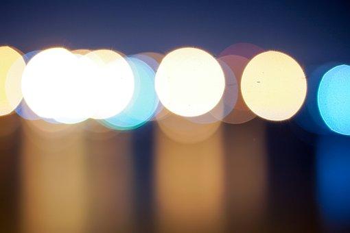 Beautiful, Night, Blue, Dark, Round, Light, Bright