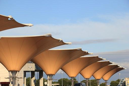 Portugal, Lisbon, Expo, Area, Sunshades, Umbrellas