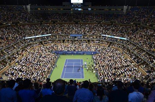 Stadium, Tennis Court, Tennis, Audience, Observer