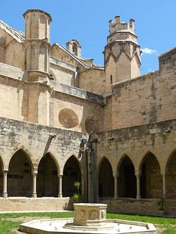 Cloister, Gothic, Tortosa, Cathedral, Sundial, Tower