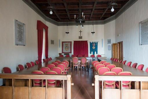 Meeting Room, Town Hall, Hall, Meeting, Session, Chair