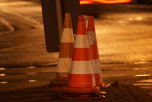 Traffic, Hat, Traffic Cone, Red, White, Warning, Light