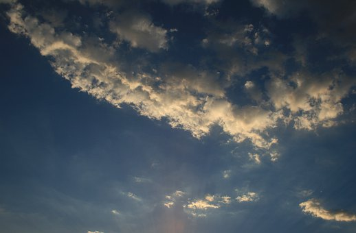 Clouds, Feather, White, Loose, Smokey, Tufts, Sky, Blue