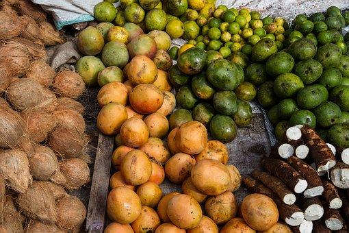 Market, Mombasa, Fruits, Fruit, Vegetables