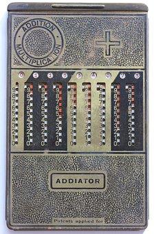 Addiator, Mechanical, Calculator, Add, Subtract