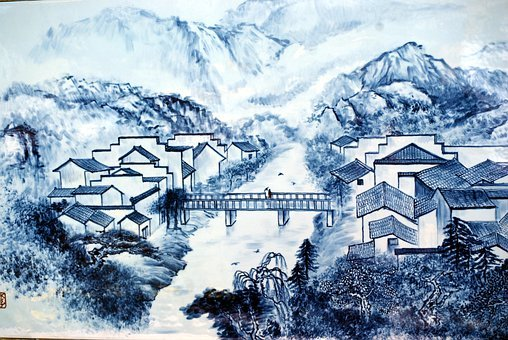 Porcelain, Picture, Artwork, Chinese, Design
