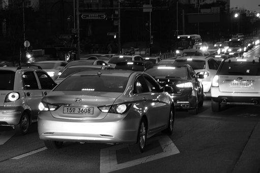 Car, Transportation, Traffic Jams, Sonata