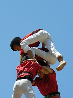 Castellers, Anxaneta, Castells, Human Towers, Child