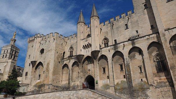 Avignon, Palais Des Papes, City, Gate, Machicolations