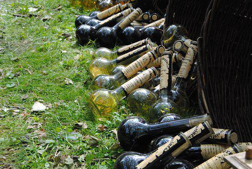 Bottles, Alcohol, Middle Ages, Beverages, Glass Bottles