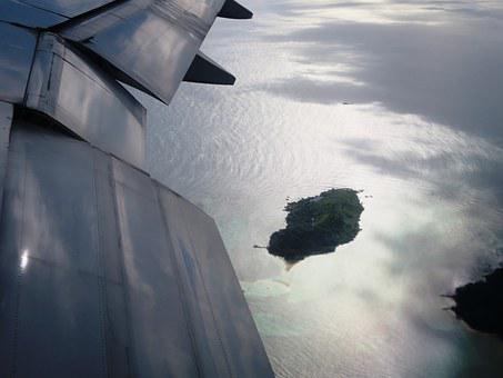 Aircraft, Island, Fly, From Above, Out Of Plane