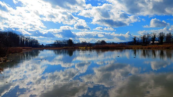Lake, Clouds, Reflect, Water, Waters, Nature, Pond