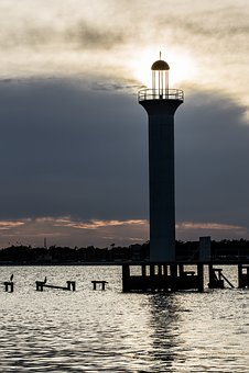 Lighthouse, Light, Landmark, Beacon, Biloxi Ms