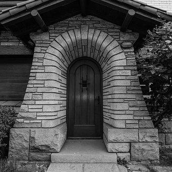 House, Input, Architecture, Mar Del Plata, Door, Wood