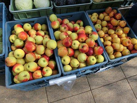 Apple, Crates, Market, Healthy, Fruit, Fruit Stand