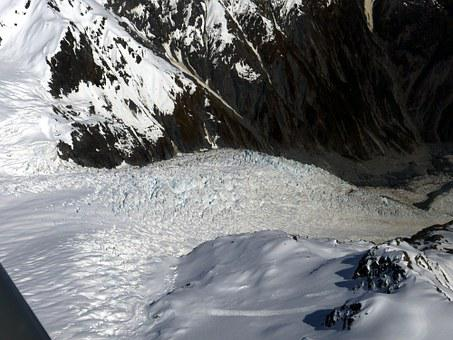 Glacier, Mount Cook, New Zealand, Southern Alps, Nature