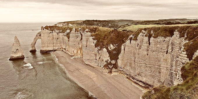 Etretat, Sea, France, Normandy, Holiday, Travel, Port