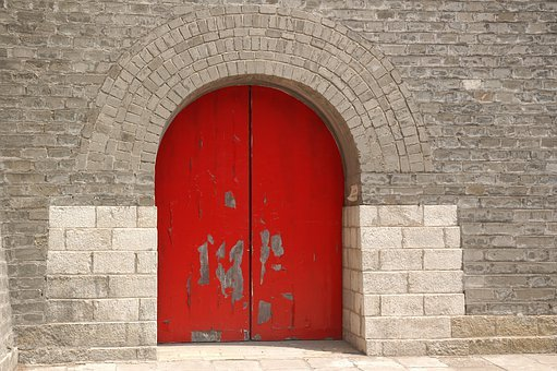Chinese, Red Door, Gate, Traditional, Asia, Entrance