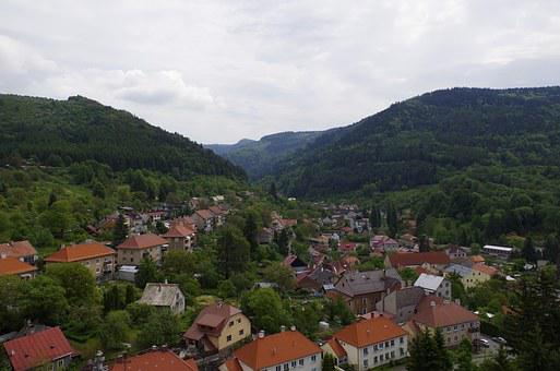 City, Small Town, Landscape, Mountains, Nature, Travel