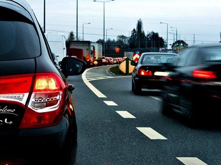 The Stopper, Traffic, Twilight, Traffic Jam, Way, Cars