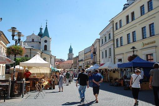 Fair, Lublin, Poland, Strings, Twine, Historical Centre
