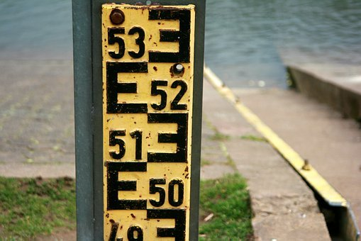 Was Measured, Depth Gauge, Water Level, River