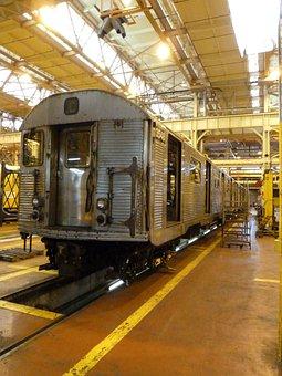 New York City, Coney Island, Train, Station, Workshop