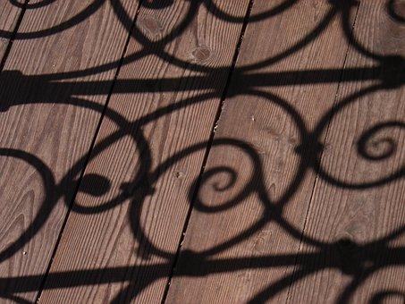 Shadow, Grid, Wrought Iron, Shadow Play, Light