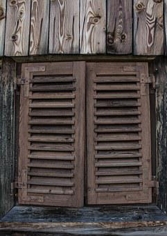 Window, Hut, Alm, Barn, Old, Mountains, Alpine