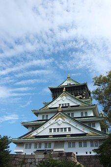 Osaka, Castle, Japanese, Architecture, Travel, Heritage