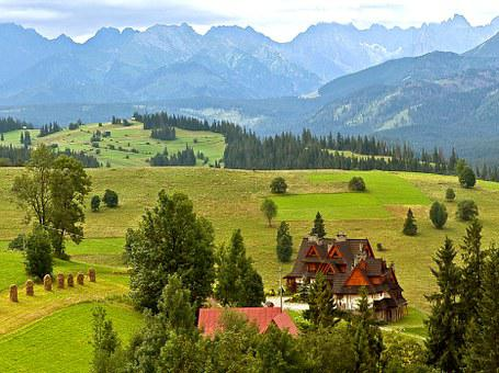 House, View, Tatry, Architecture Podhalańska, Summer