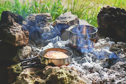 Fire, Campfire, Tent Camp, Stock, Camp, Camping