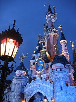 Disneyland, Paris, Fantasy, Attraction, Castle, France
