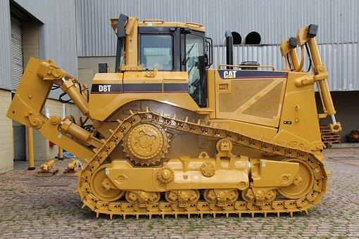 Caterpillar, D8t, Earthwork, Construction, Roads, Work