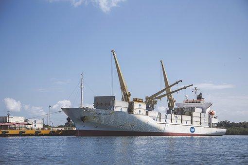 Ship, Shipping, Bananas, Fruit, Container, Cargo, Big