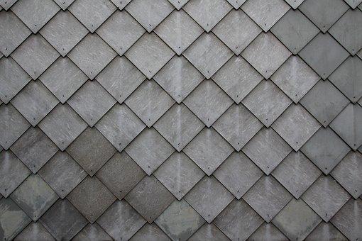 Shingle, Slate, Tile, Diamonds, Grey, Pattern, Wall