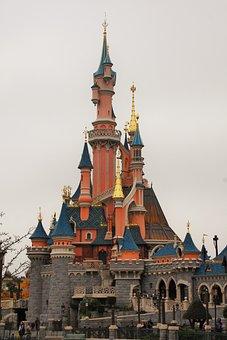 Castle, Sleeping Beauty, Disneyland, Paris, France