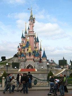 Disneyland, Castle, Fantasy, Children, Tourism