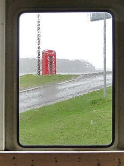 Phone, Rain, Call, Contact, Old, England, Networking